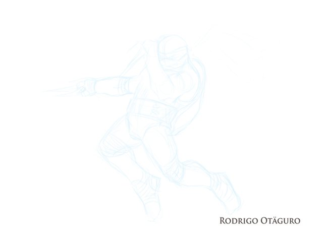 Fanart Tartarugas Ninjas personagem Raphael, por Rodrigo Otäguro