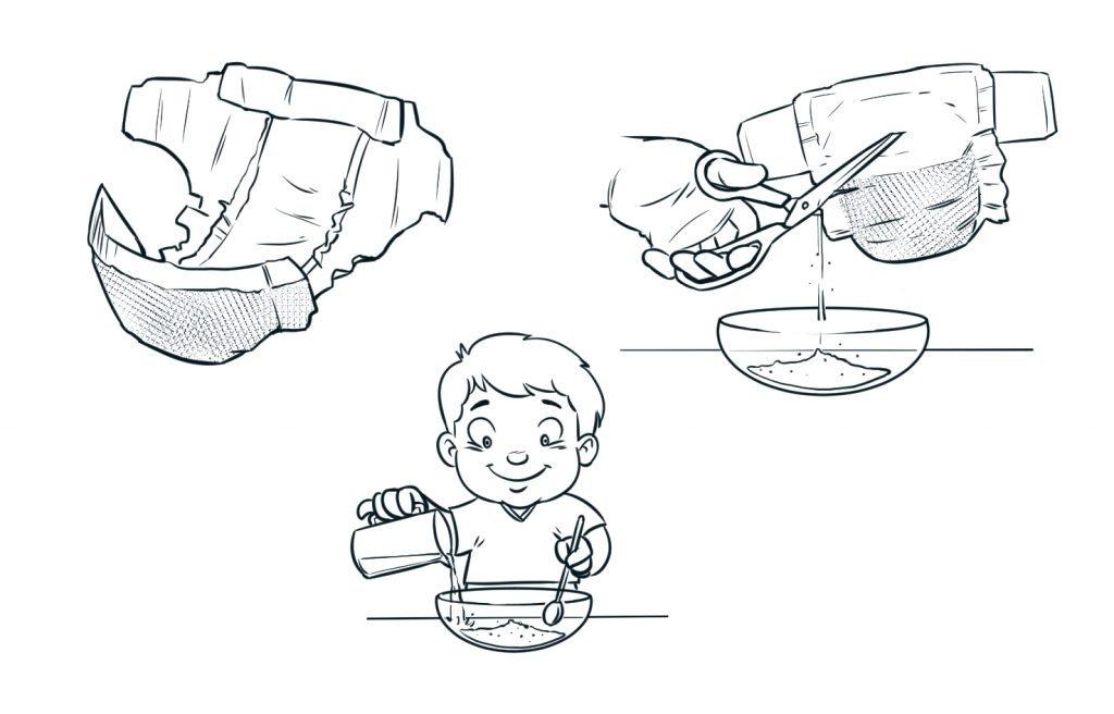 Ilustração demonstrando uma experiência escolar
